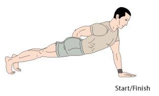 one arm pushups bodyweight exercise