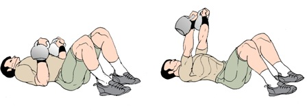 Kettlebell/Dumbbell Floor Press Exercise