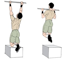 Pull Ups Exercise - One arm, Assisted, Overhand ...