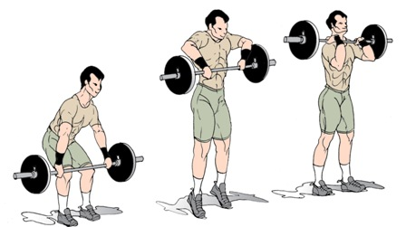 barbell high pulls