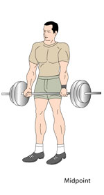 Deadlifts Midpoint Position