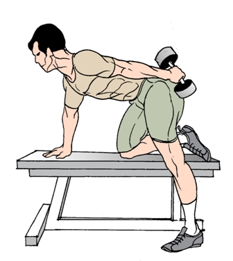 how to make triceps with dumbbells
