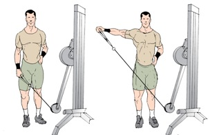 One arm Cross Cable Laterals Exercise