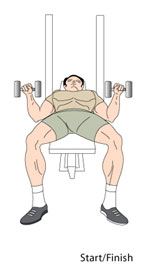 Dumbbell Bench Press Start