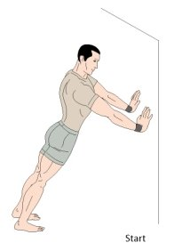 wall pushups bodyweight exercise